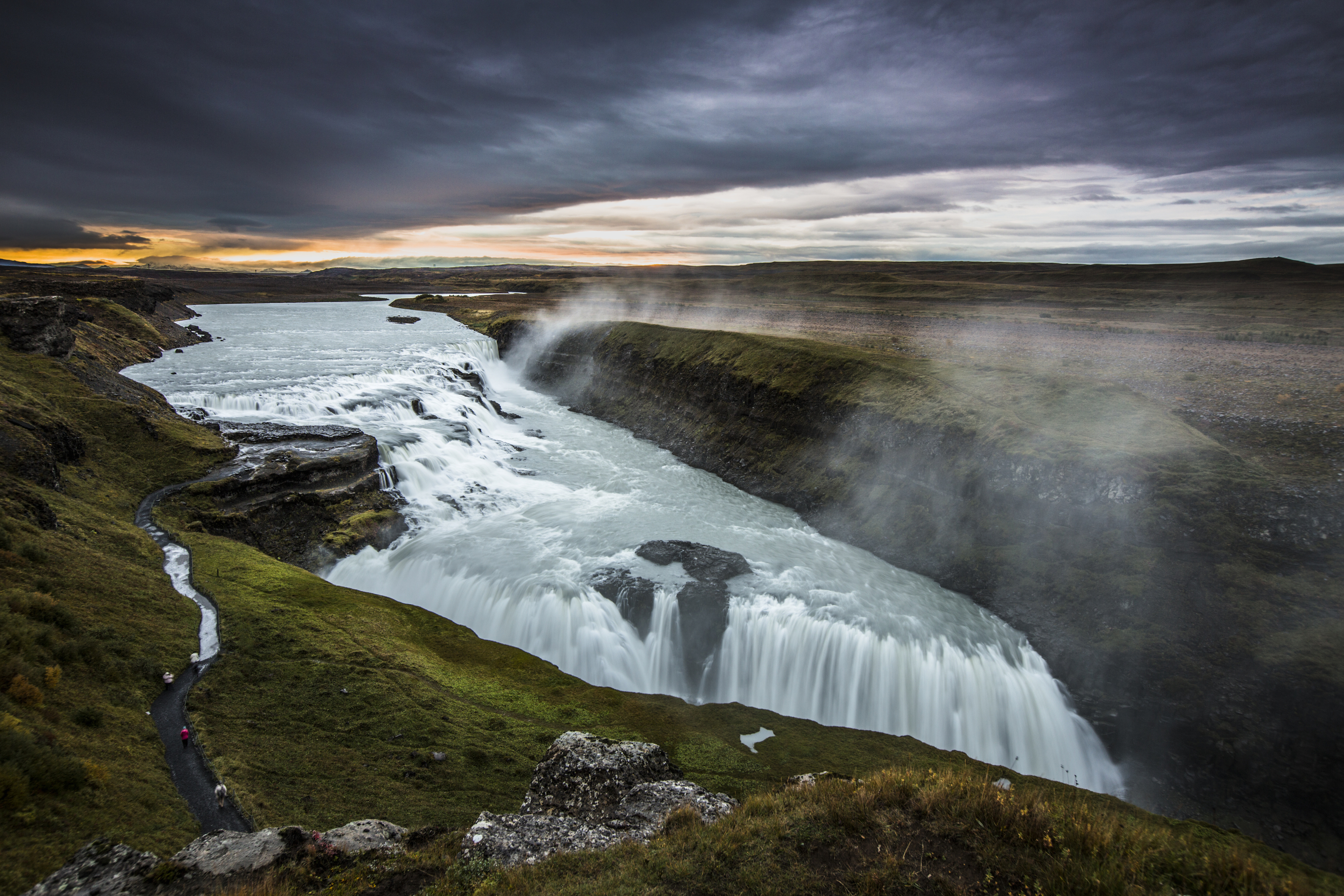 Gullfoss waterfall is the most popular waterfall in Iceland